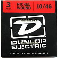 Струны Dunlop DEN1046-3P 10-46 Medium3 sets, фото 1