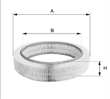 Фильтр воздушный 1.4-1.6MPI WIX WA6697 7700274216; 7701047655