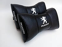 Подушка на подголовник Peugeot черная