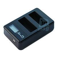 LCD Зарядное устройство USB  для 2-х  батарей Canon LP-E8.