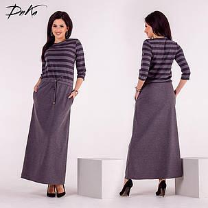 Д1363 Платье длинное (размеры 42-56) , фото 2