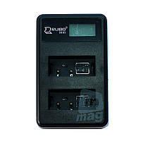 LCD Зарядное устройство USB  для 2-х  батарей Canon LP-E17.