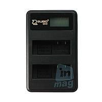 LCD Зарядное устройство USB  для 2-х  батарей Nikon EN-EL14 / EN-EL14A