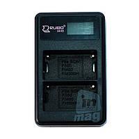 LCD Зарядное устройство USB  для 2-х  батарей Sony NP-F550 / NP-FM50 / NP-FM500H. , фото 1