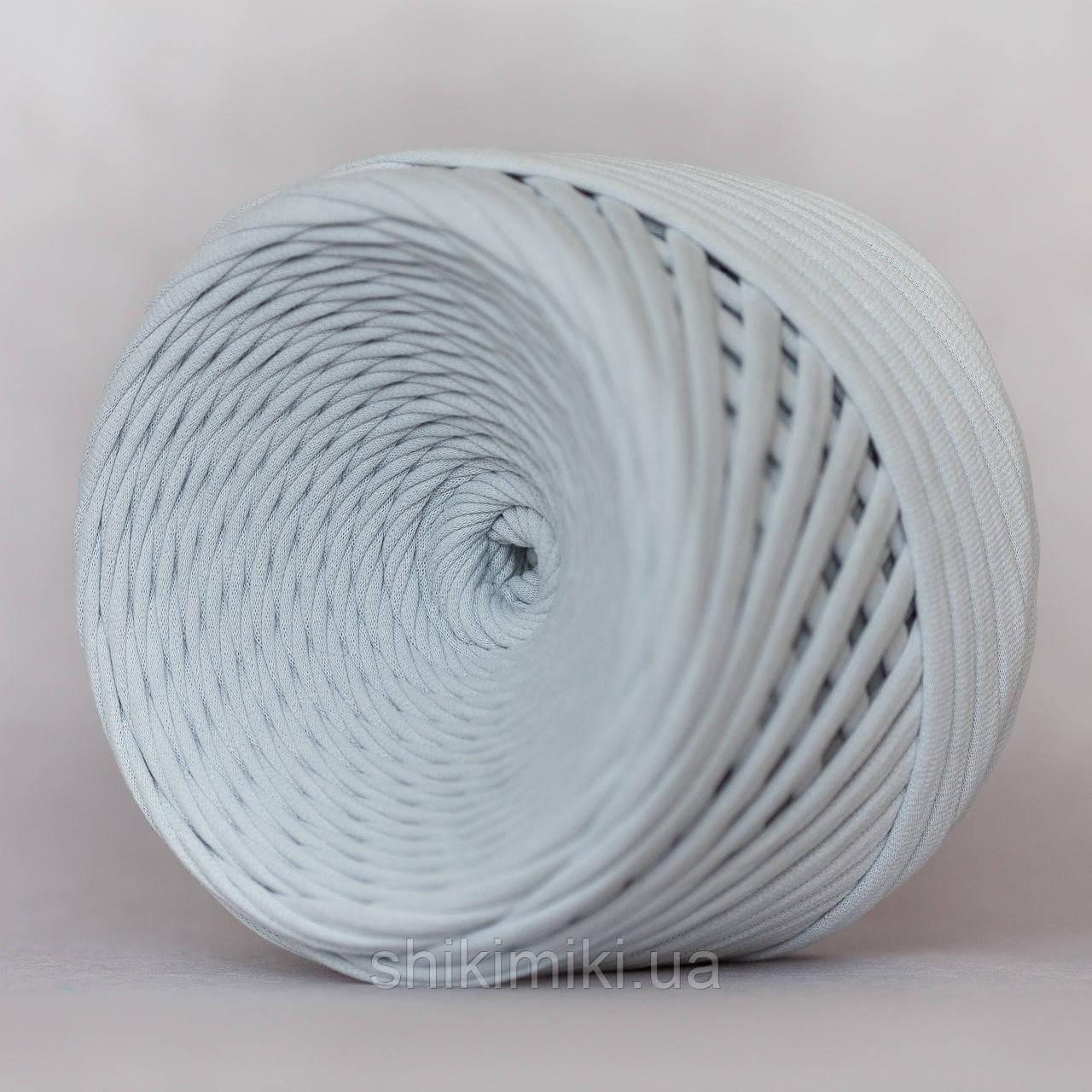 Трикотажная пряжа (5-7 мм), цвет Серебро