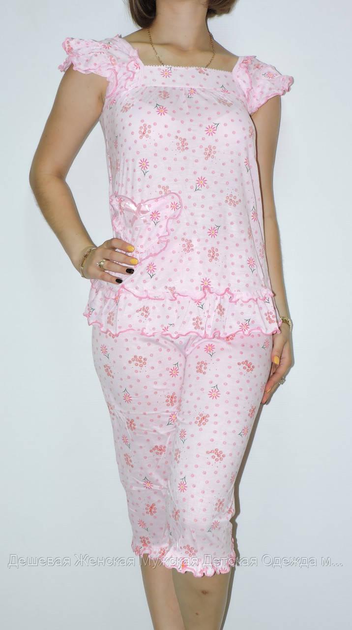 Пижама женская. В ростовке 5 шт.(разные цвета). Размер М-3XL. (44-52). 100%cotton.