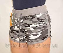 Шорты женские короткие трикотажные в стиле милитари, фото 2