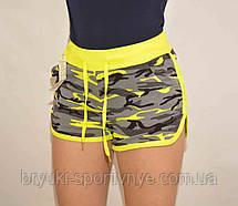 Шорты женские короткие трикотажные в стиле милитари, фото 3