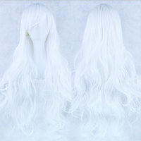 Длинные парики - 80см, белые волнистые волосы, косплей, анимэ