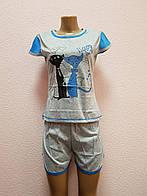 Пижама женская. В упаковке 5 шт. Размеры L-4XL.
