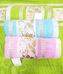 Банное полотенце 70*140. В упаковке 6шт. Цвета разные