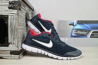 Мужские кроссовки Nike Free Run 3.0 Синий/Красный 10817