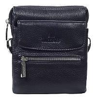 b58dcb981040 Невероятно практичная мужская кожаная сумка на пояс и через плечо черная  Lare Boss LB0049645-11