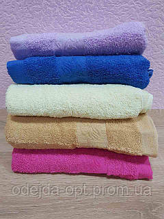 Махровое полотенце для лица. Размер 95*45. В упаковке 6шт. Цвета разные