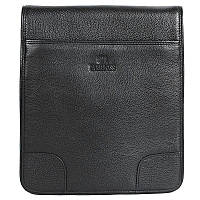 Мужская кожаная сумка-планшетка черная Lare Boss LB005889-3-1091