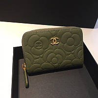 Chanel коричневый кошелек на молнии