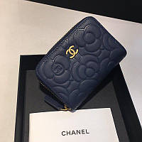 Chanel синий кошелек на молнии