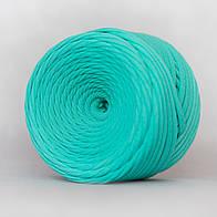 Трикотажная пряжа (5-7 мм) цвет  Мятный