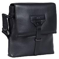 bd2734dae9b0 Качественная мужская кожаная сумка формата А5 черная High Touch HT007891-41