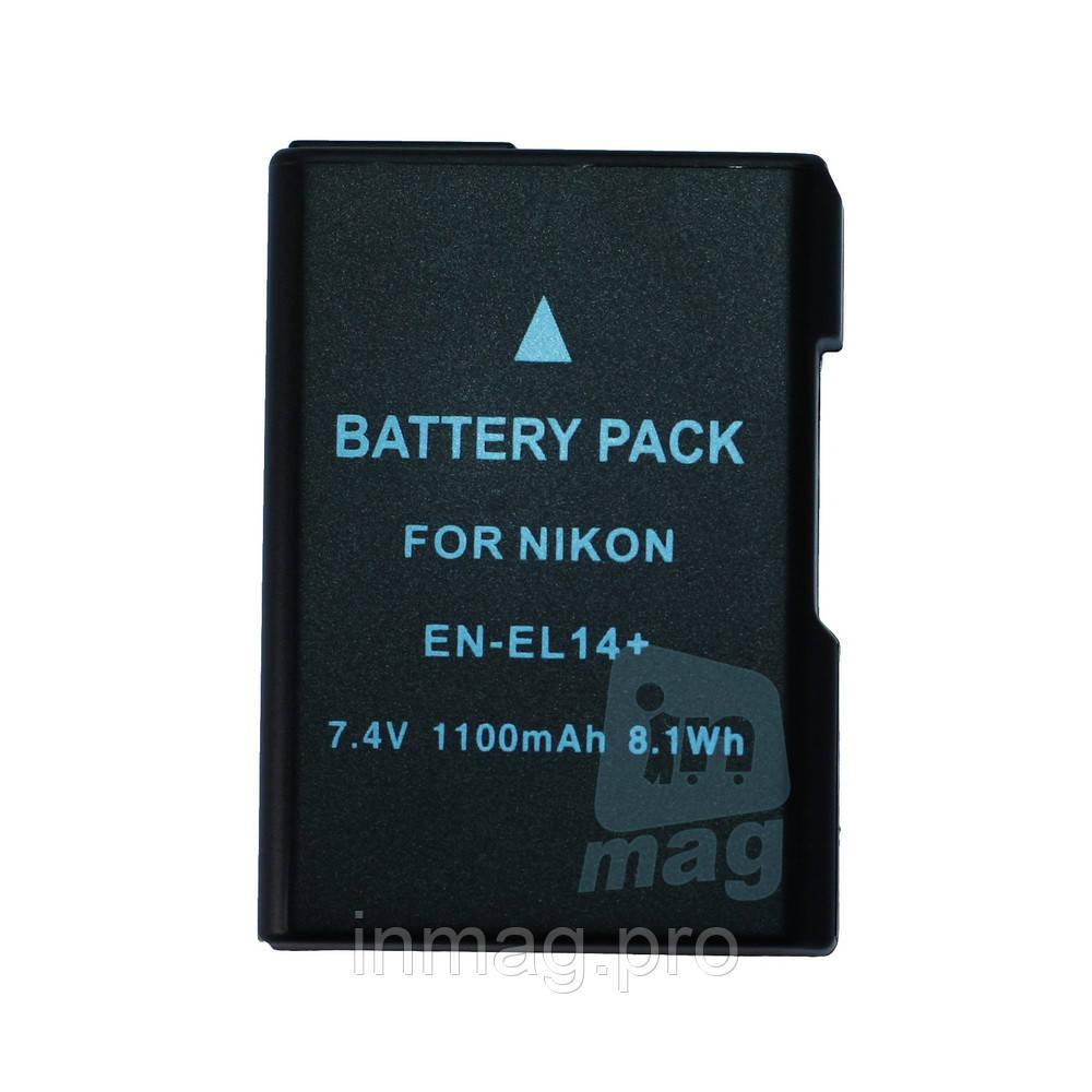 Аккумулятор для фотоаппарата Nikon EN-EL14+ / EN-EL14A black, 1100 mAh