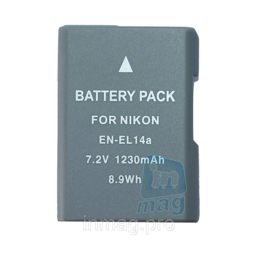 Аккумулятор для фотоаппарата Nikon EN-EL14+ / EN-EL14A silver, 1230 mA