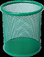 Подставка для ручек круглая BUROMAX, металлическая, зеленая BM.6202-04