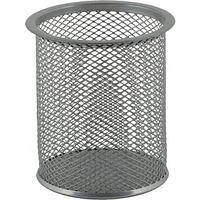 Подставка для ручек круглая BUROMAX, металлическая, серебристая BM.6202-24