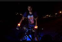 Светловой провод на запястья велосипедиста II-покл.