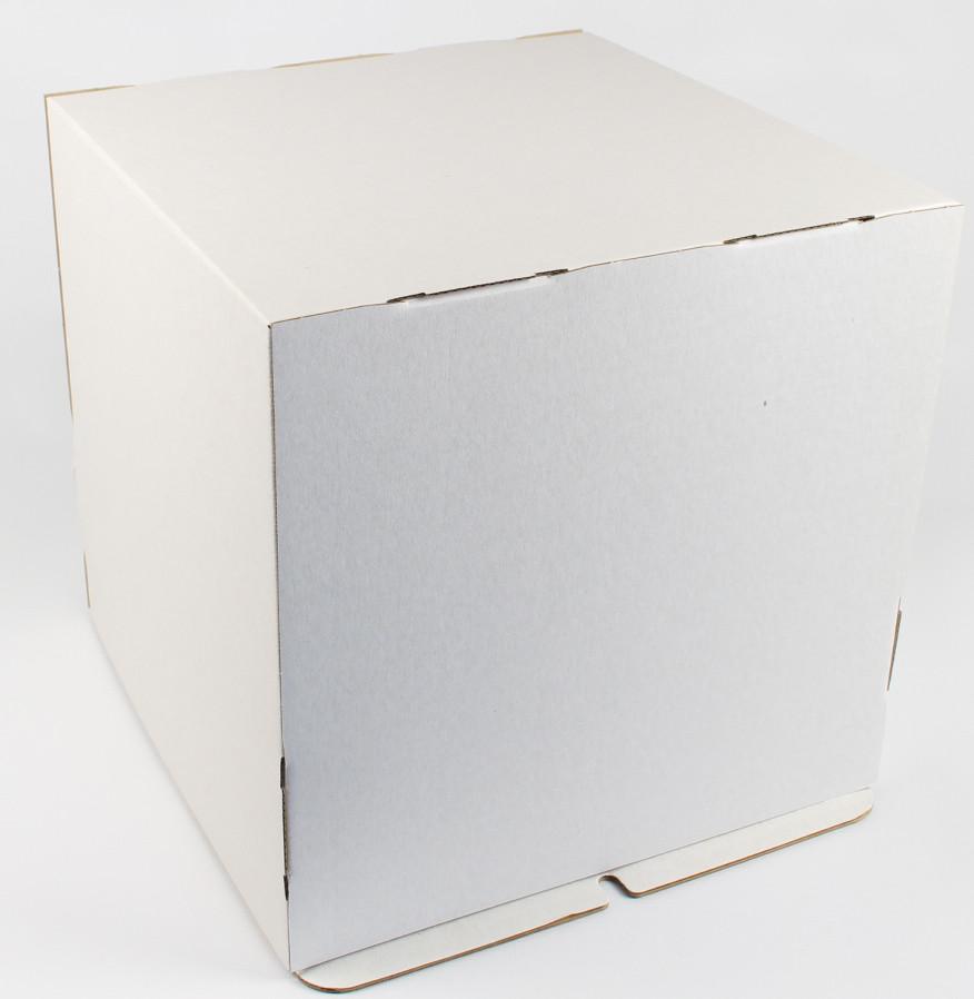 Коробка ГОФР / 300х300х300 мм / ГОФР-Белая / б.о. / для торт