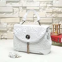 Versace женская сумка с кожаным ремнем на плечо белая