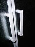 "TISZA душевая кабина угловая 80*80*200, на мелком поддоне 15 см, профиль белый, стекло ""Zuzmara"" 4 мм, фото 3"
