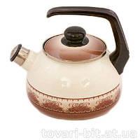 Сербский эмалированный чайник Терракот 2,5 л
