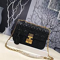 Dior сумка черного цвета с узором Cannage