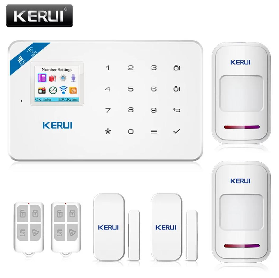 Беспроводная GSM, WiFi сигнализация Kerui W18 русское меню. Комплект 2 + проводная сирена