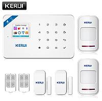 Беспроводная GSM, WiFi сигнализация Kerui W18 русское меню. Комплект 2 + проводная сирена, фото 1