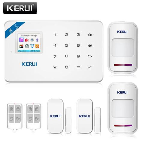 Беспроводная GSM, WiFi сигнализация Kerui W18 русское меню. Комплект 2 + проводная сирена, фото 2