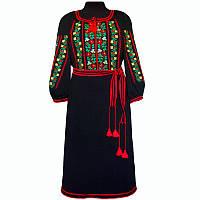 Платье вышитое крестом с поясом
