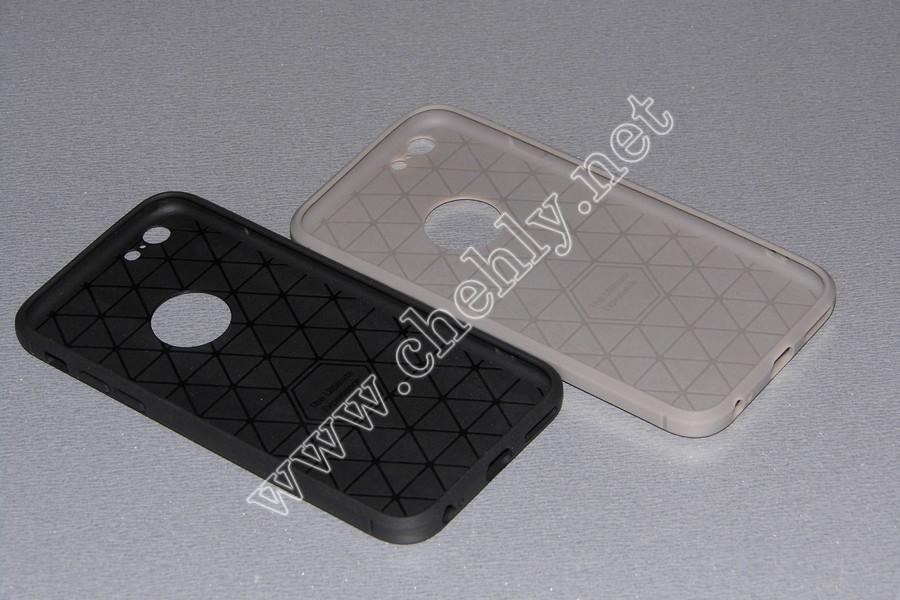 Силиконовый чехол со спинкой под кожу iPhone 6