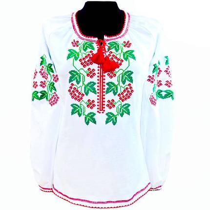 Вышиванка блуза вышитая крестиком белая с длинным рукавом!, фото 2