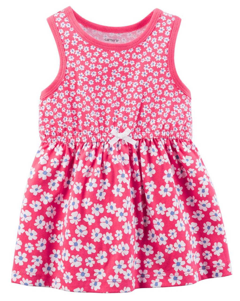 Летнее платье + трусики Carters для девочки 24 мес (2 года) 83-86 см. Комплект 2-ка