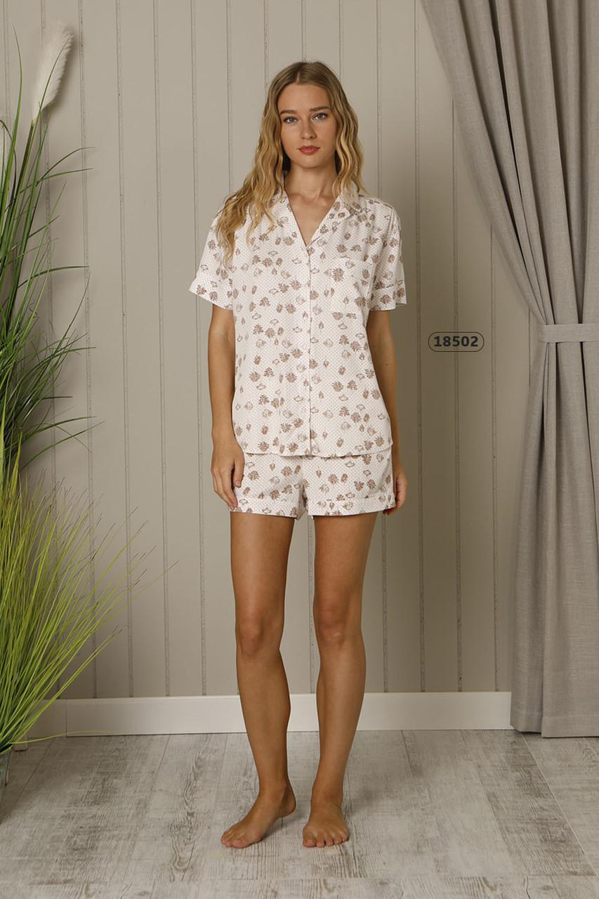 Жіночий комплект для сну з короткої сорочки та шортів HAYS 18502