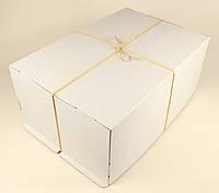 Коробка ГОФР / 600х400х250 мм / ГОФР-Белая / б.о. / для торт, фото 1