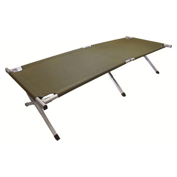 Кровать кемпинговая Highlander Aluminium Camp Bad Green