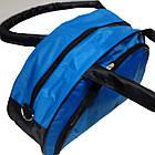 Спортивная сумка голубая с черными вставками, фото 2