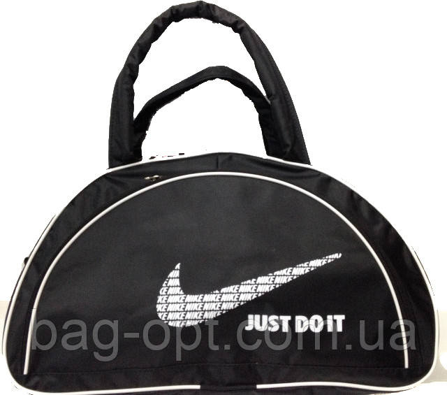 Спортивная сумка черная с белыми вставками