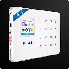 Бездротова GSM, WiFi сигналізація Kerui W18 російське меню. Комплект 3 + дротова сирена, фото 3