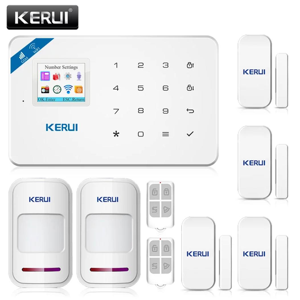 Бездротова GSM, WiFi сигналізація Kerui W18 російське меню. Комплект 3 + дротова сирена