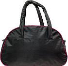 Спортивная сумка серая с розовыми вставками, фото 2