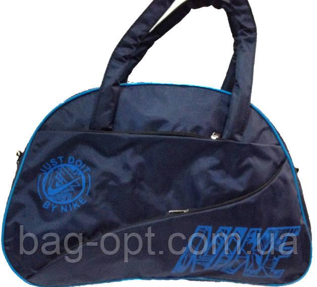 Спортивная сумка синяя с синими вставками