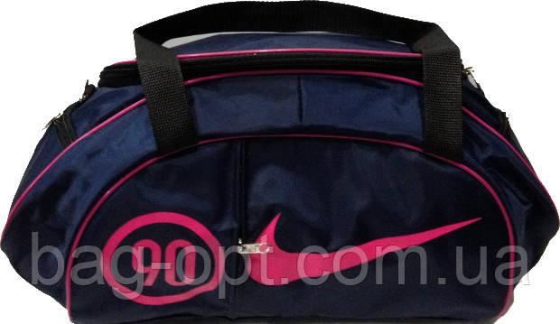 Спортивная сумка синяя с розовыми вставками